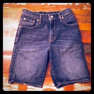 Levi's 569 Denim Shorts Dark Wash Size 29